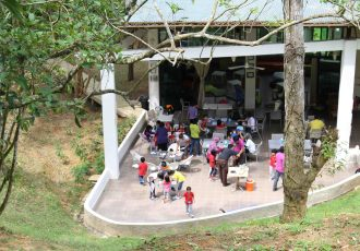 Large open air classroom